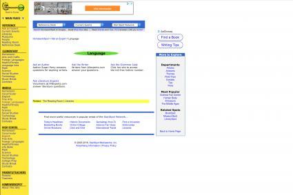 Screenshot of homeworkspot website