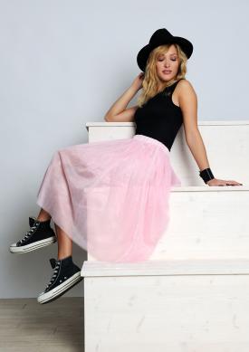Girl wearing trendy semi-formal separates