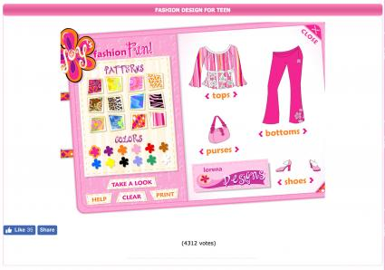 Screenshot of Fashion Design for Teens