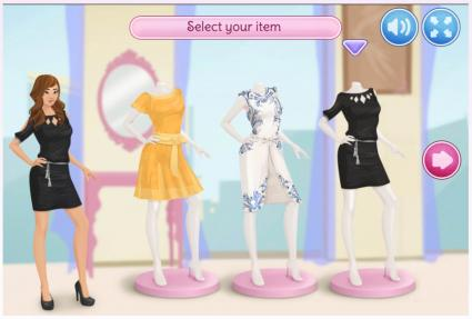 Screenshot of Stella's Dress Up: Fashion Show