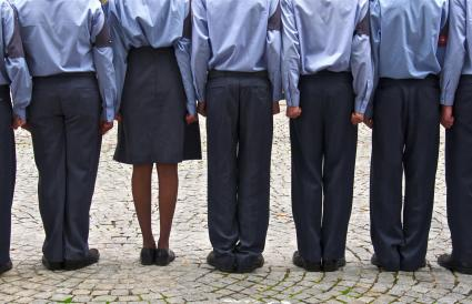 cadets in blue uniforms