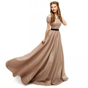 Woman Brown Dress