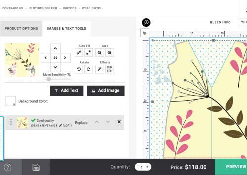 Contrado Design a Dress Page