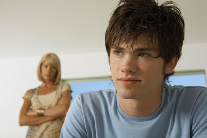Mom frustrated with teen son
