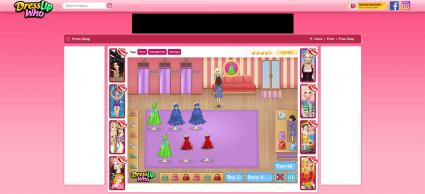 Screenshot of Prom Shop Game