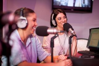 Women making a podcast