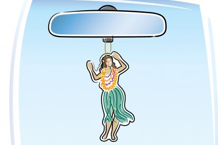 Hula Girl Car Freshener