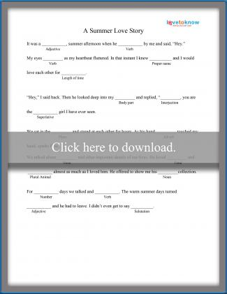 photograph about Funny Fill in the Blank Stories Printable identified as Printable Ridiculous Libs for Substantial University Learners LoveToKnow