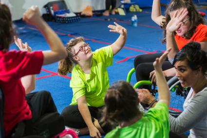 kids with disabilities at camp