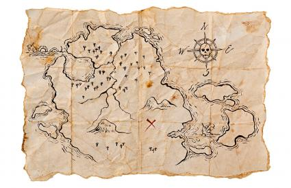 Pirate Map to Buried Treasure