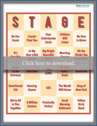 Songs From Musicals Bingo