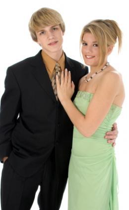 Junior prom couple.