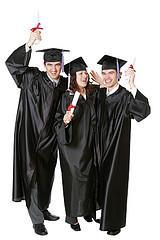 three happy grads