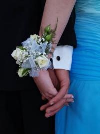 Bracelet corsages for prom lovetoknow for Light blue wedding dress meaning