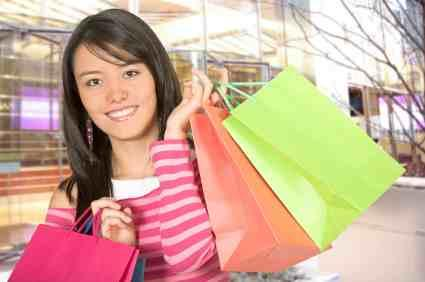 Delightful Teens Are Known To Love Shopping!