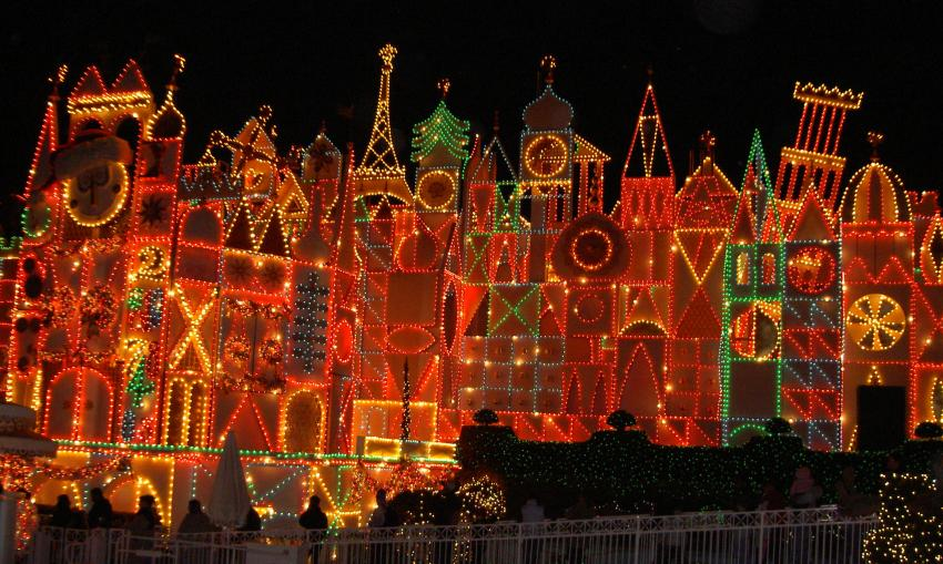 its a small world at night