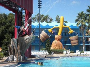 All Star Movies swimming pool in Orlando
