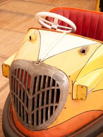 Old fashioned bumper car