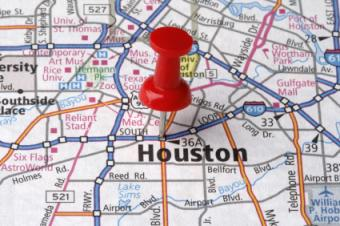 Houston on a map