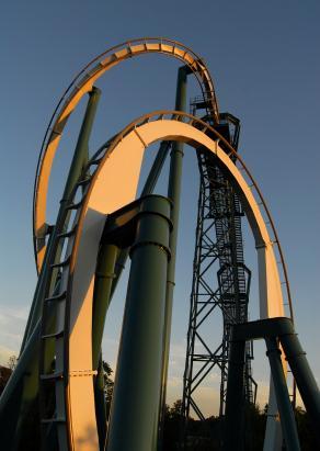 Alpengeist coaster at Busch Gardens Williamburg