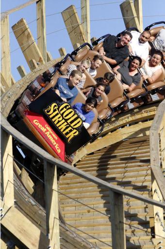 Gold Striker roller coaster at California's Great America