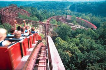The Beast wooden roller coaster at Kings Island