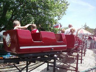 Little Dipper Roller Coaster at Memphis Kiddie Park