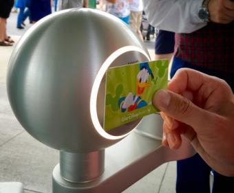 Fast Pass ticket at Disney World