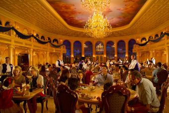 Diners at Be Our Guest restaurant