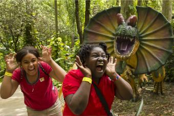 Girls at Dinosaur World