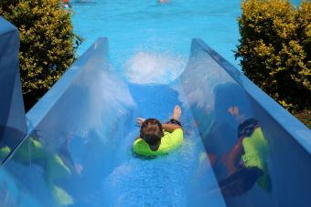 Water slide at Wetlands Water Park