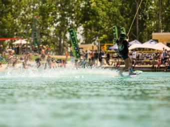 Wakeboarding at Water Park