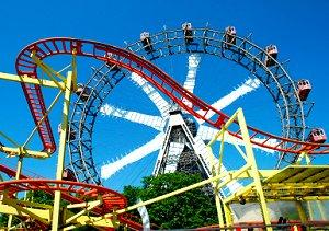 Theme parks have many types of rides.