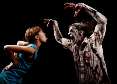 Zombie and Girl