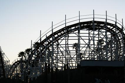 Roller coaster silhouette