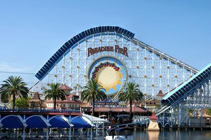 Paradise Pier California Screamin' Roller Coaster