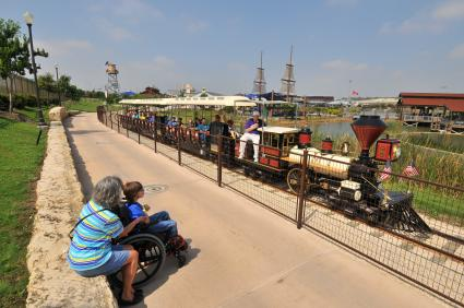 Guests watching the Wonderland Express