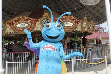 Joy the Butterfly mascot at Morgan's Wonderland