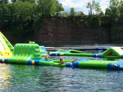 Floating at Brownstone Water Park