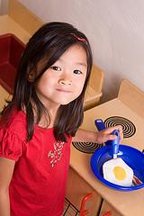 Cook up some fun in a toy kitchen.