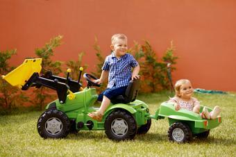 Ride on toys are fun for outdoor play.