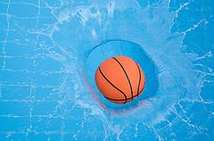 Basketball in pool