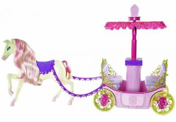 Barbie Princess Charm School Horse And Carriage at Amazon.com
