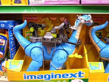 Imaginext Battle Apatosaurus toy