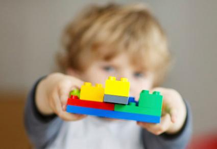 Boy Playing With Legos