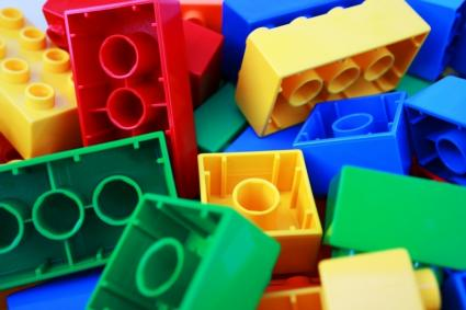 colorful lego bricks