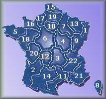 Travel France - French Regions (D-N)