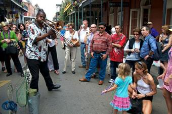 Street musician in the French Quarter