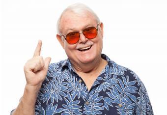 Grandpa in a Hawaiian shirt