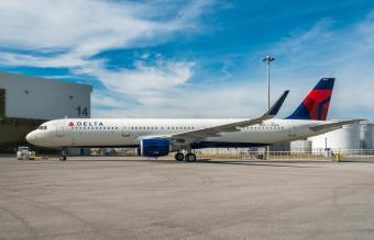 Delta Airlines plane at airport